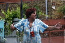 A woman reacts after severe flooding in the southern Russian town ofKrymsk