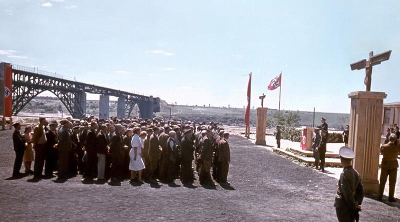 00.Запорожье, Открытие моста через Днепр, 1943 год.