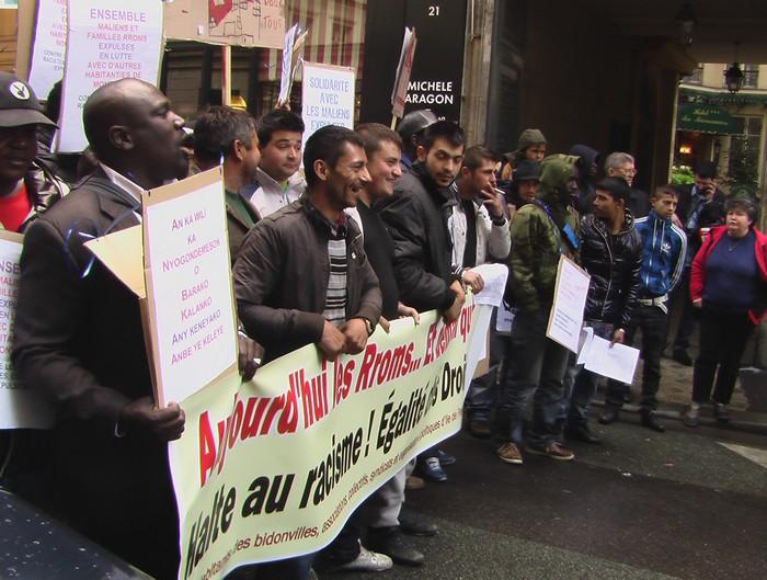 Мигранты борются, чтобы их не вышвырывали на улицу