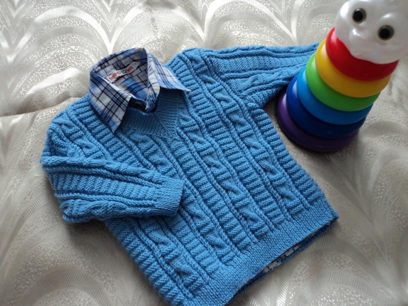 Вязание спицами пуловер для мальчика 3 лет