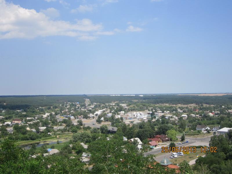 7.Город  Чигирин.  Вид  сверху