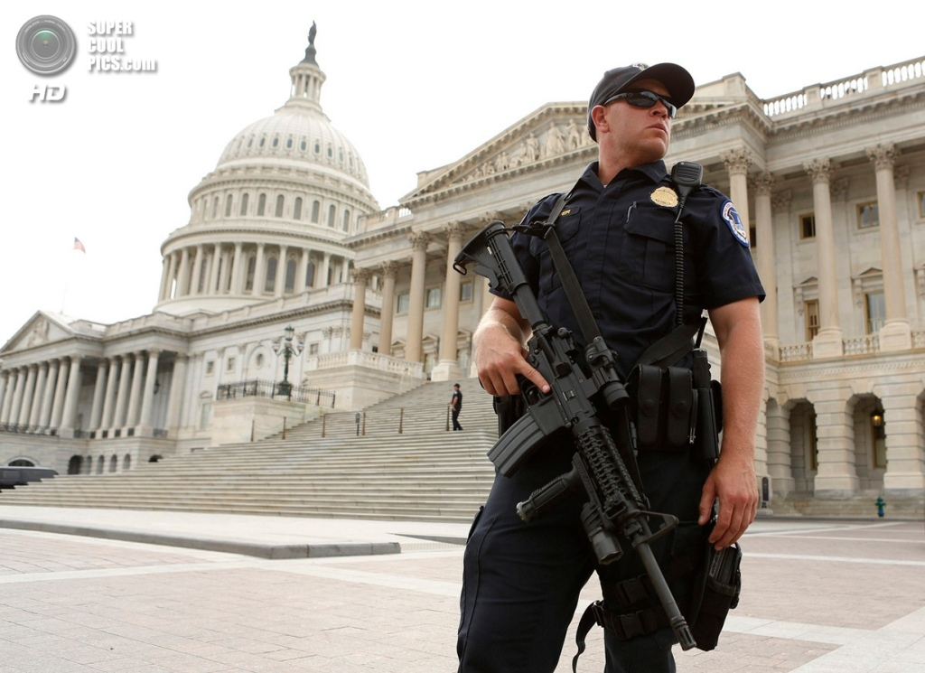U.S. Capitol On Lockdown After Reports Of Gun Shots