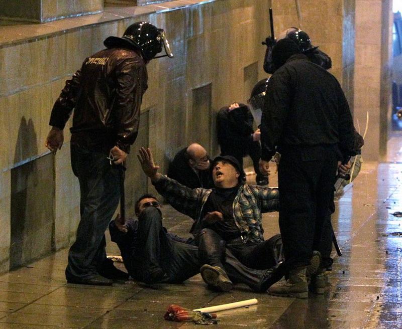 Police clash with protestors in Tbilisi