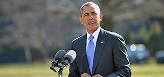 President Obama announces new U.S. sanctions on the Russian economy in Washington
