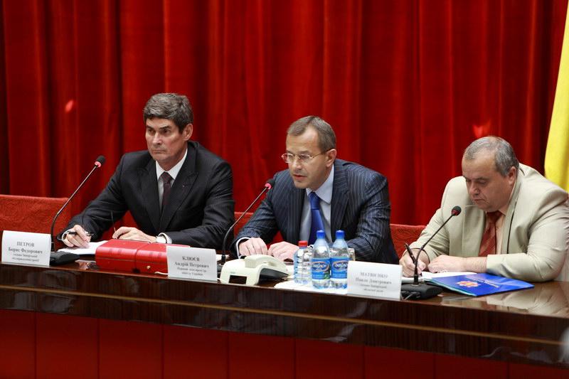 Клюев в зале совещаний Запорожской облгосадминистрации