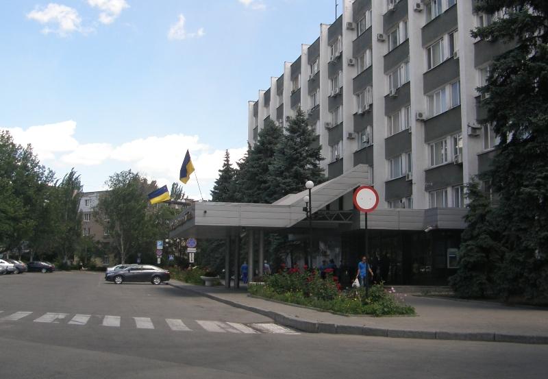 Здание ГУМВД в Запорожской области.