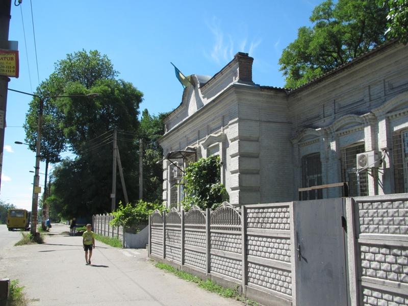 Запорожский райсуд. И флаг на фронтоне