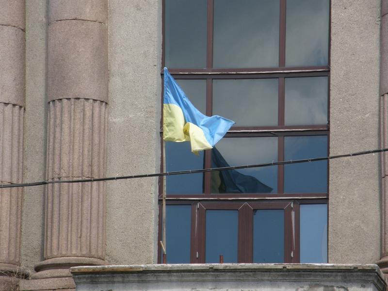 """А это """"приспущенный"""" флаг музея"""