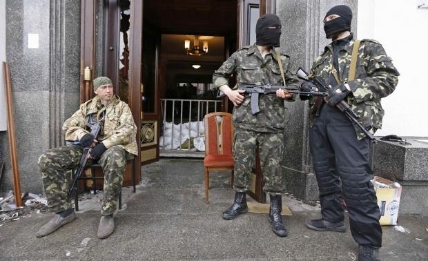 Захваченный горсовет Луганска