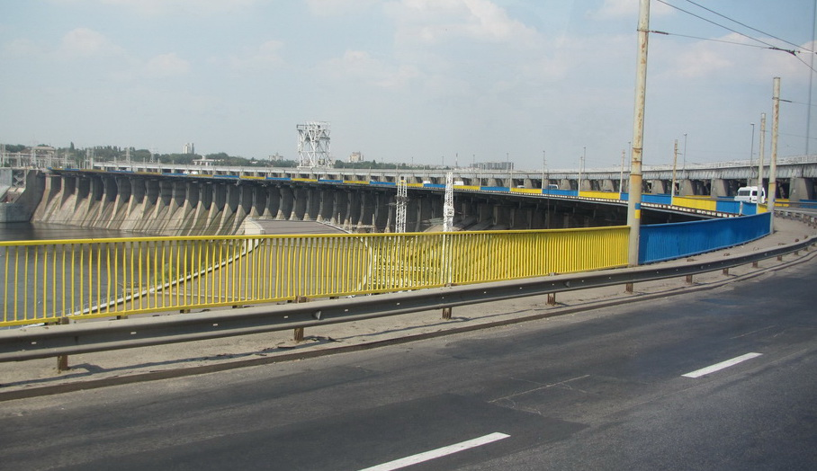 Фото ВВП: патриотическая плотина Днепрогэса