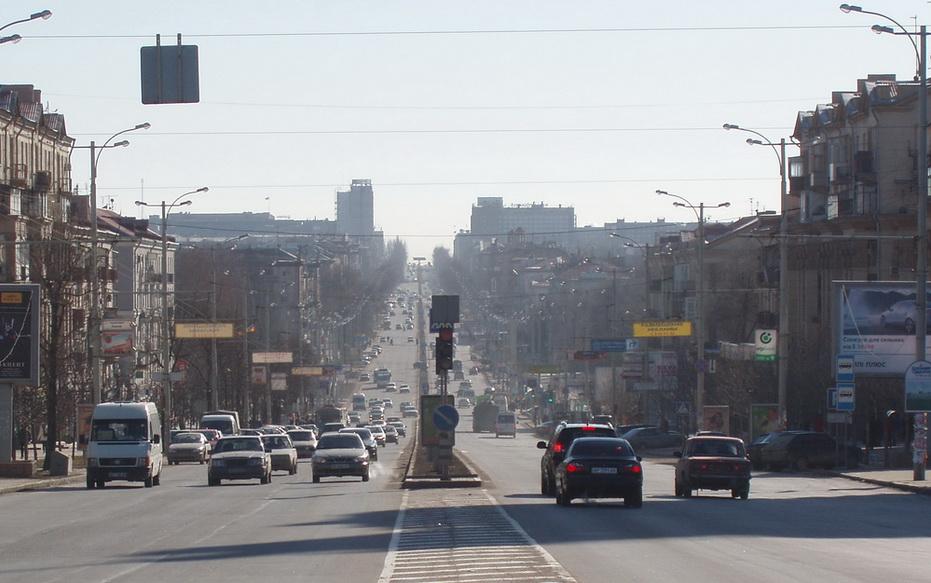 Запорожье. Проспект Ленина. Фото ВВП