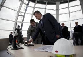 Янукович на открытии ветряной электростанции
