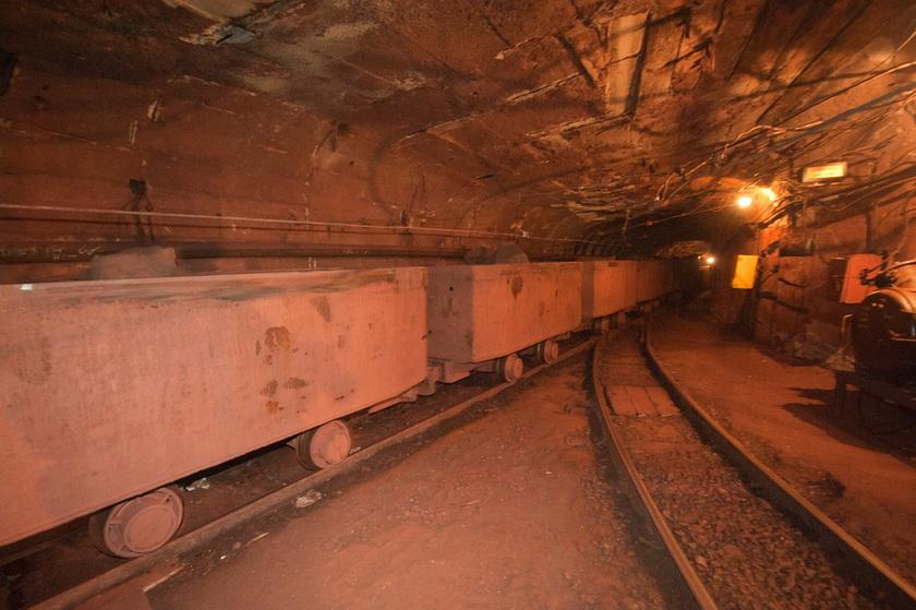 На горизонте 840 метров шахты «Эксплуатационная» - там добывается руда