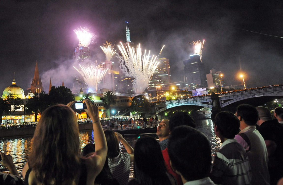 New Year celebration in Australia