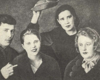 3.Люба Шевцова (вторая слева)