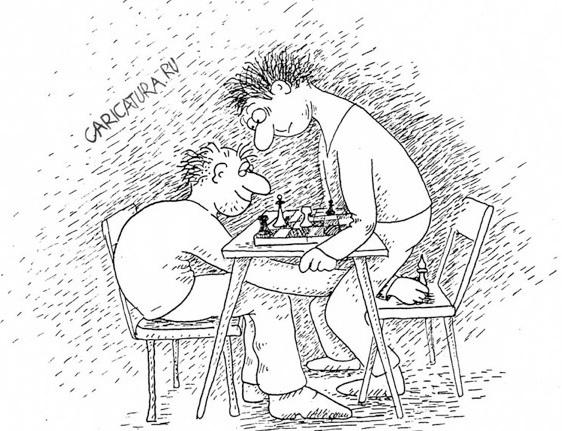 фракция  Порошенко и фракция Яценюка играют в шахматы.