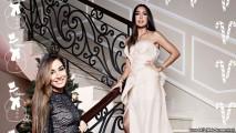 Лейла и Арзу Алиевы на фотосессии.