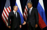 U.S. President Barack Obama extends his hand to Russian President Vladimir Putin during their meeting at the United Nations General Assembly in New York September 28, 2015. REUTERS/Kevin Lamarque SEARCH - PICTURES OF THE YEAR 2015 - FOR ALL IMAGES TPX IMAGES OF THE DAY
