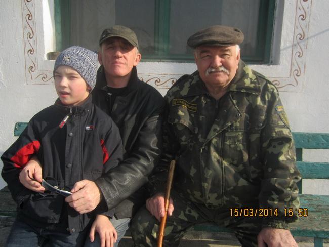 Буханистые-старший и младший с делом Шовкуном на Хортице