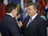 Viktor Yanukovych, Mikheil Saakashvili, New York