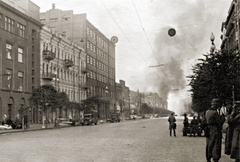 война=Киев =немцы пожар