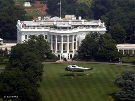 Белый дом = вертолет