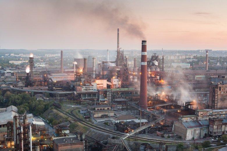 Днепровский металлургический комбинат -вид сверху