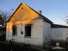 Пожар в доме села Победное