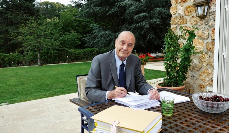 президент Ширак в поместье