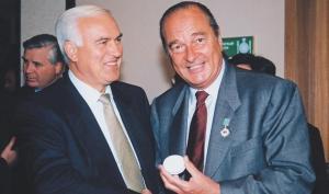 президент Ширак и Пустовойтенко