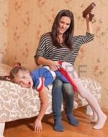 мама дочь ремень