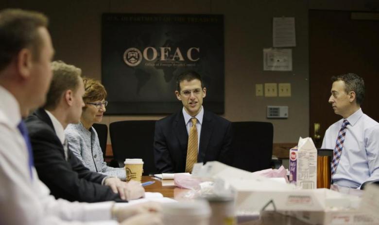 OFAC Director Szubin and staff meet at US Treasury Department in Washington