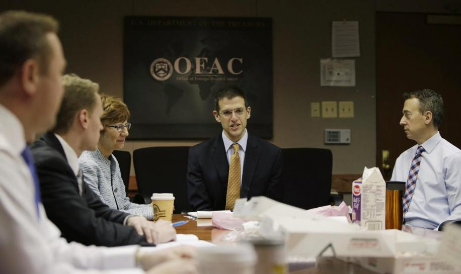 OFAC Director Szubin and staff meet at US Treasury Department in Washington