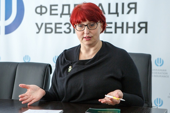 Пенсии=гендиректор Украинской федерации страхования Галина Третьякова
