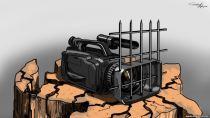ТВ =карикатура решетка