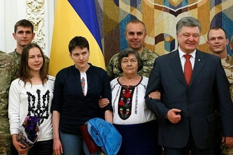 Савченко и Порошенко