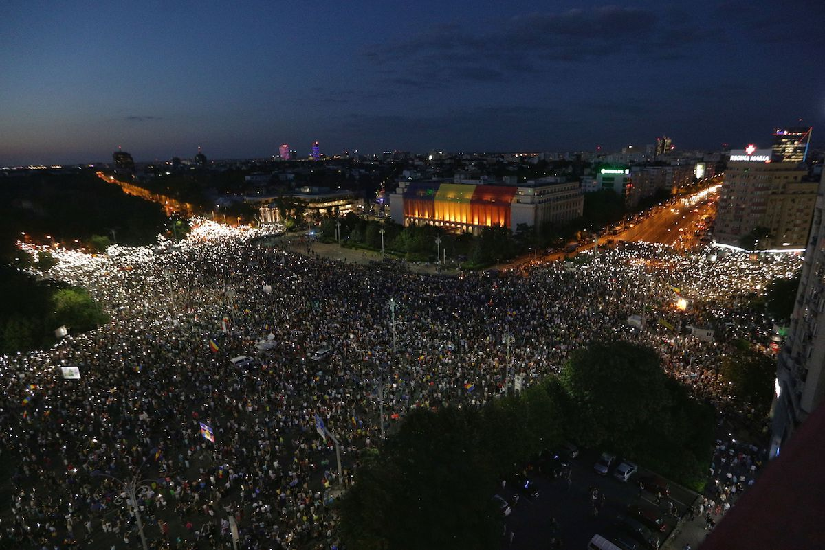 BUCURESTI - PROTEST - DIASPORA - 10 AUGUST