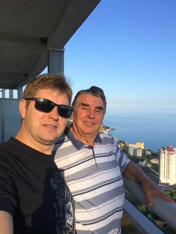 Франчук с сыном