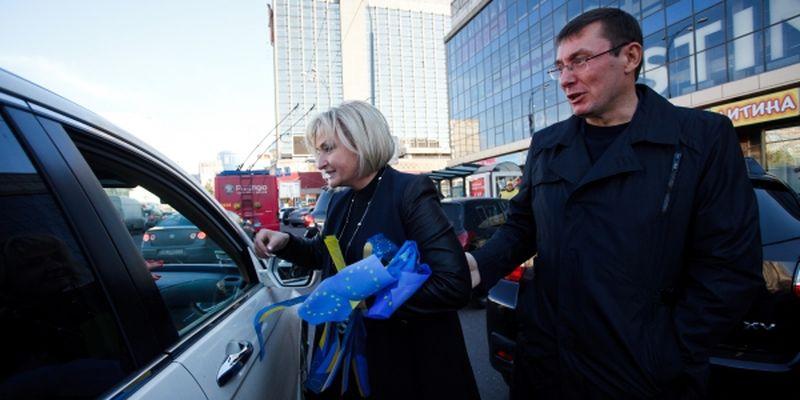 Луценко с женой авто