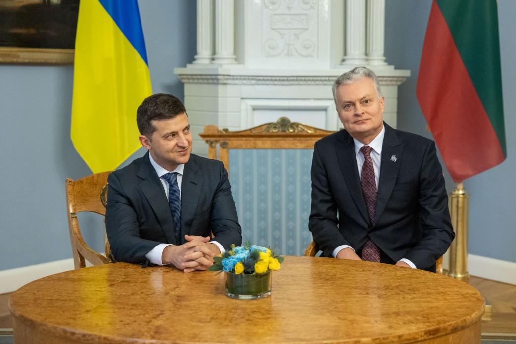 Зе и президента Литвы Гитанаса Науседы