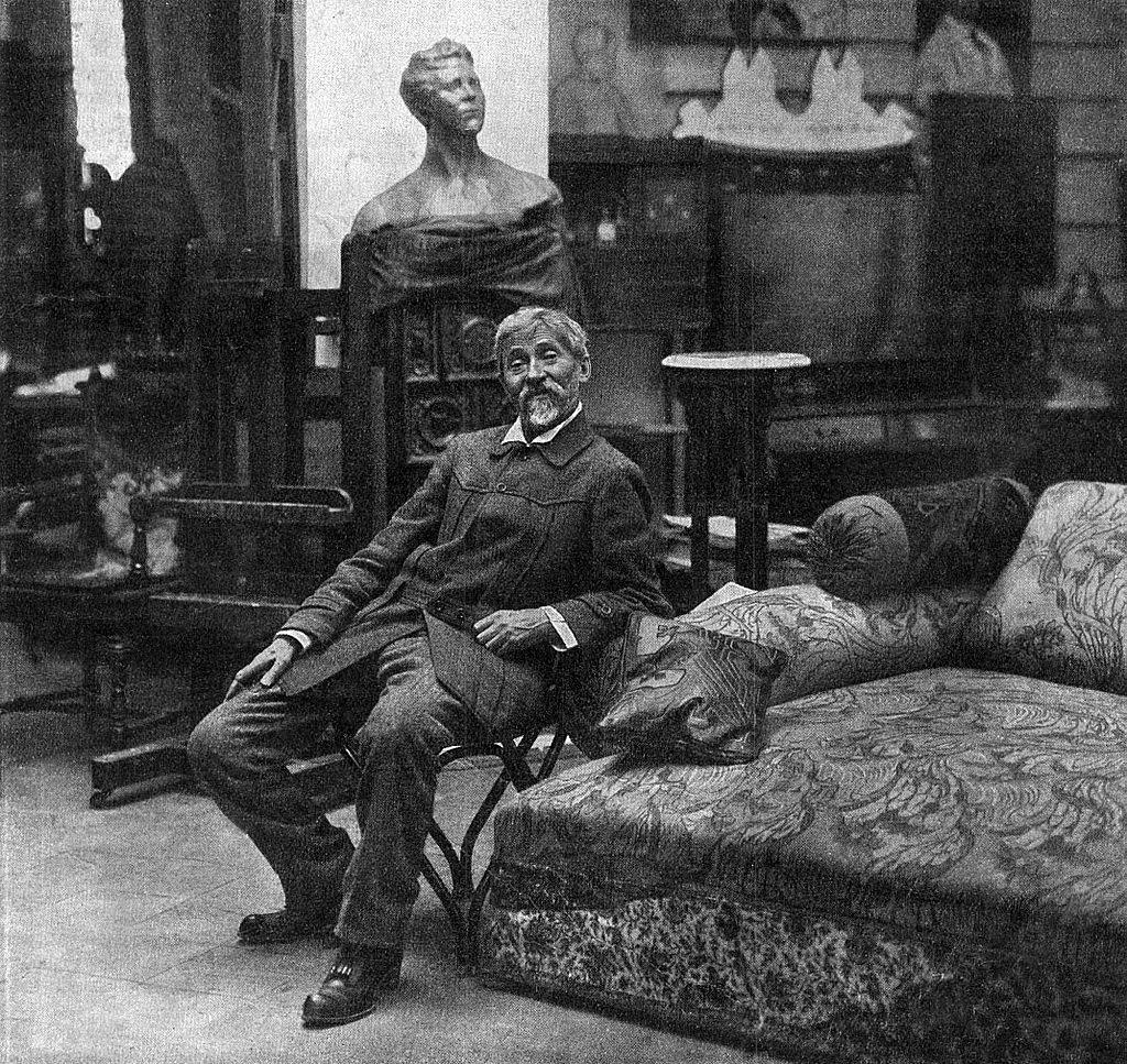 19.Илья Репин в своей мастерской в Пенатах (Куоккала). 1914 г.