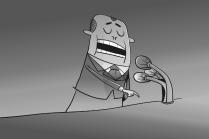 демагог у микрофона