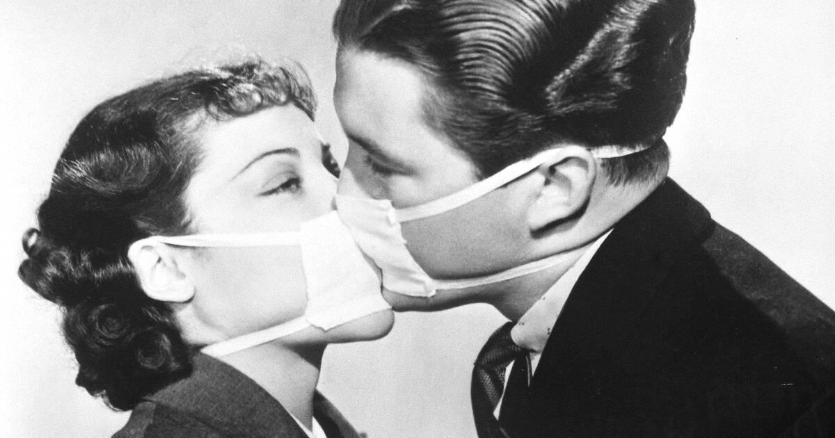 0. Фото дня- репетиция в Голливуде во время эпидемии гриппа, 1937 год